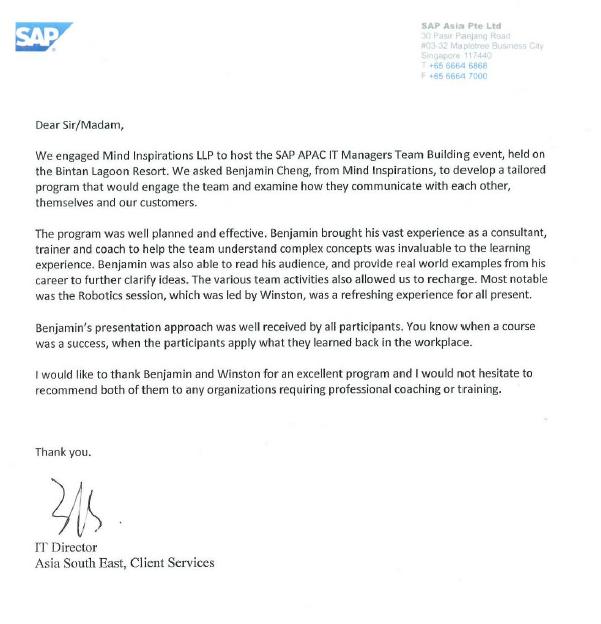 Testimony SAP